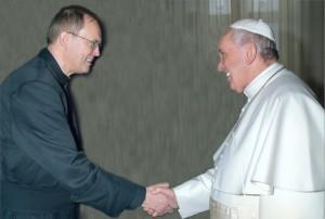 Paus Franciscus en JVR